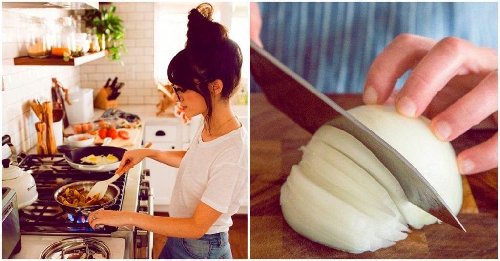 Cómo cortar una cebolla sin morir en el intento