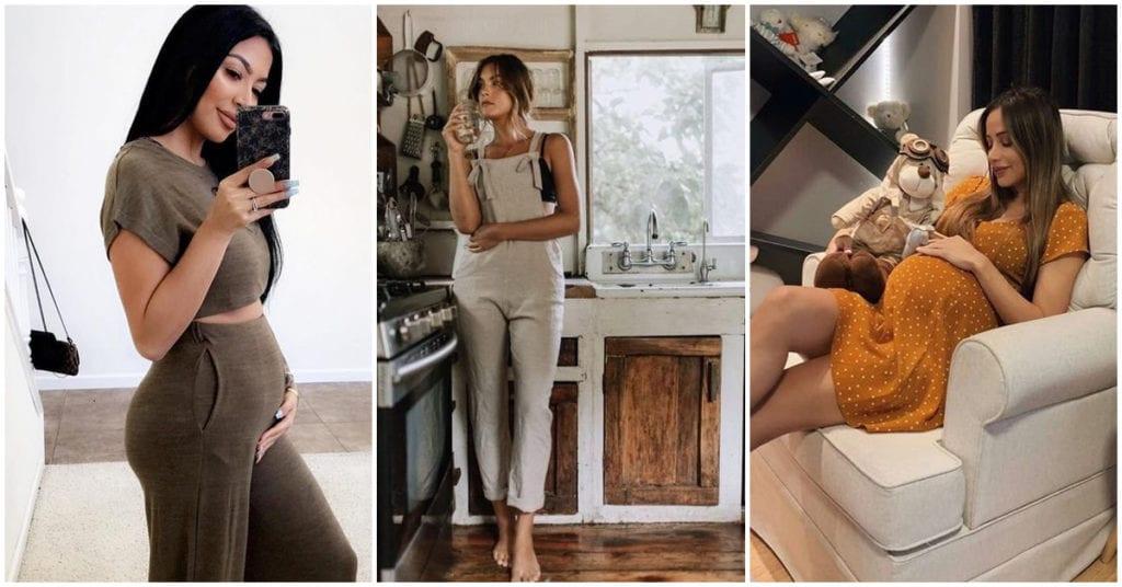 Outfits para futuras mamis con mucho estilo