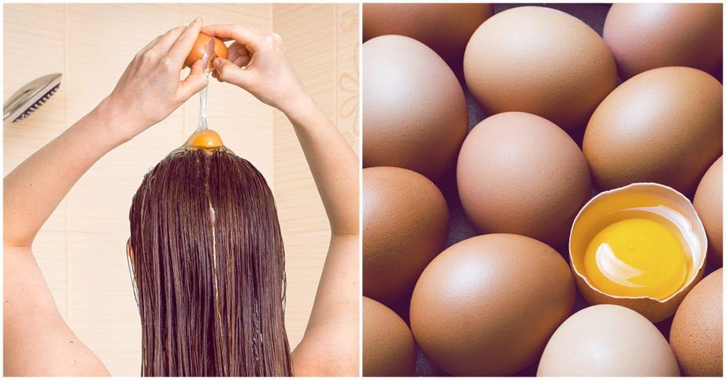Yema de huevo para tener un cabello de 10