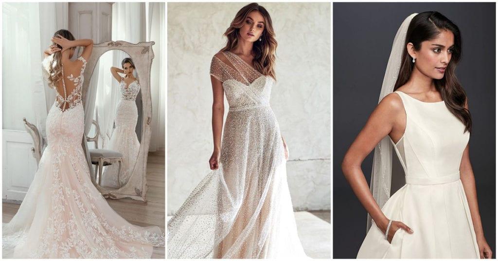 Estas son las tendencias 2020 para los vestidos de novia ¡Woow!