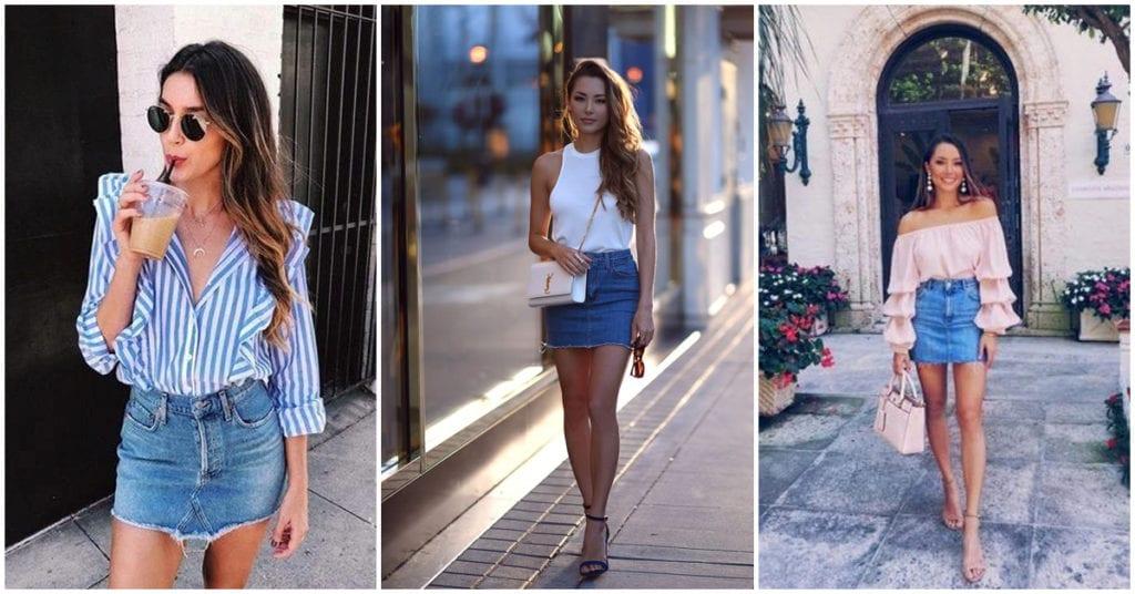 Faldas de mezclilla: con qué combinarlas para lucir a la moda