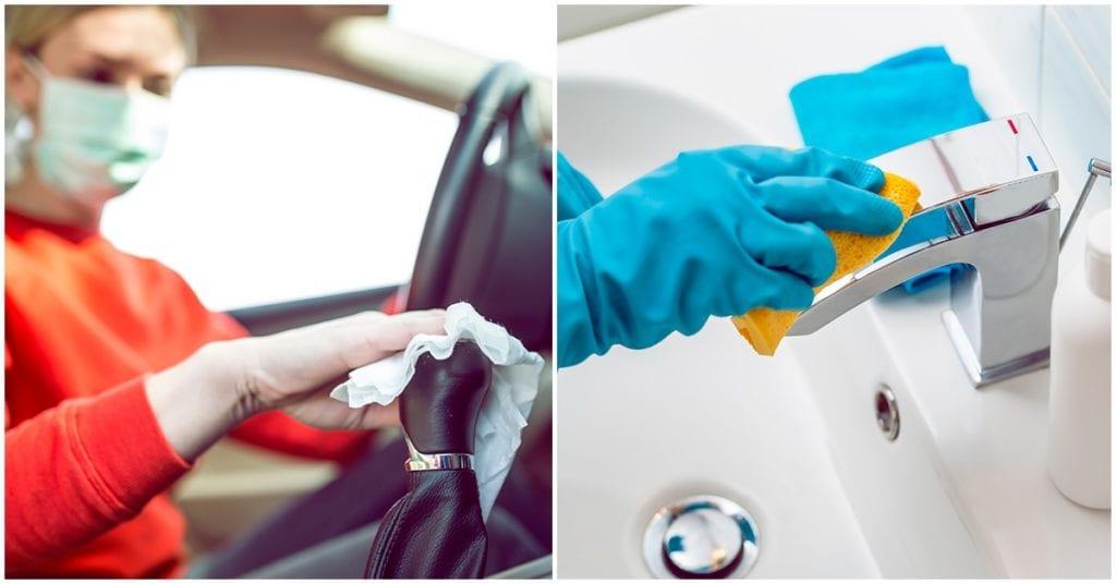 Lugares que tienes que limpiar con más frecuencia por coronavirus