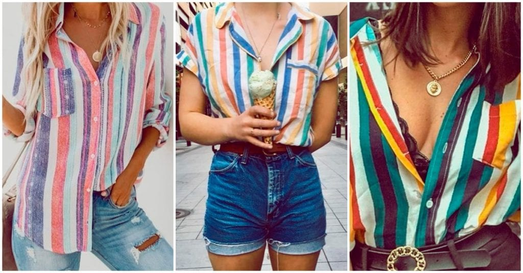 Camisas super coloridas que puedes usar esta primavera/verano