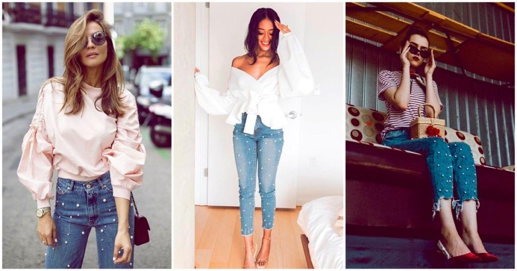 Pearl jeans: cómo llevarlos sin verte exagerada