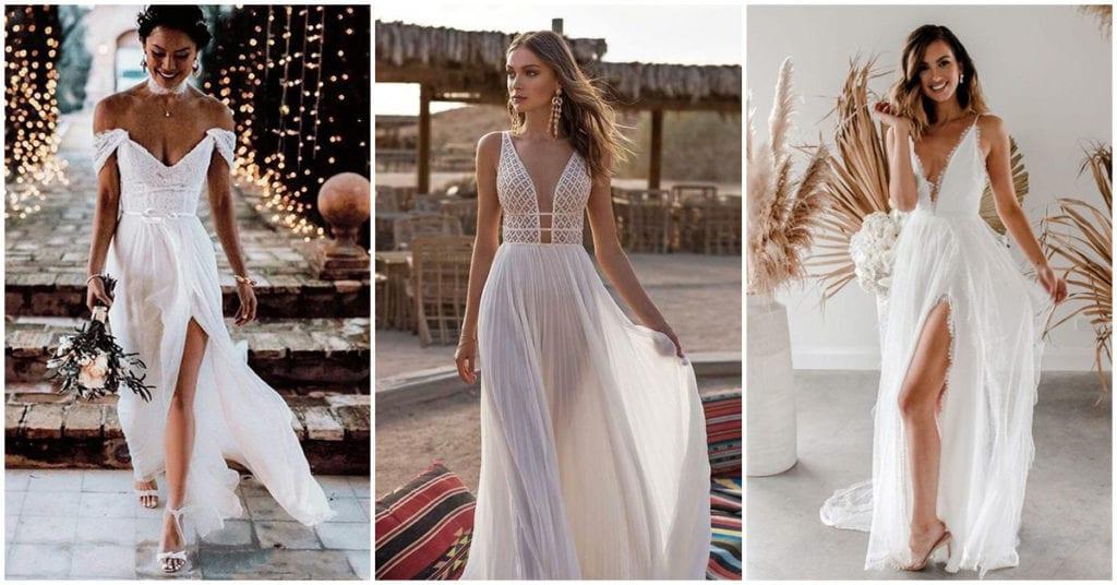Vestidos de novia para las que se casan en la playa
