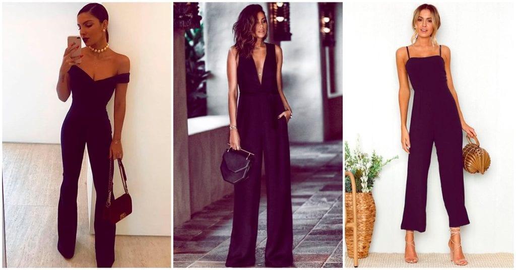 Diferentes formas de usar tu jumpsuit negro