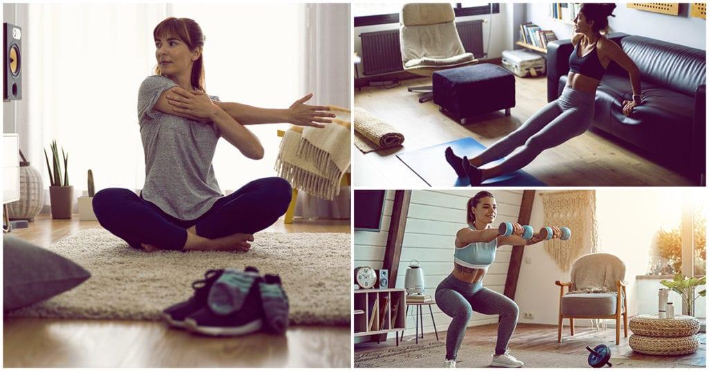 Ejercicios en casa como si estuvieras en el gym durante la cuarentena