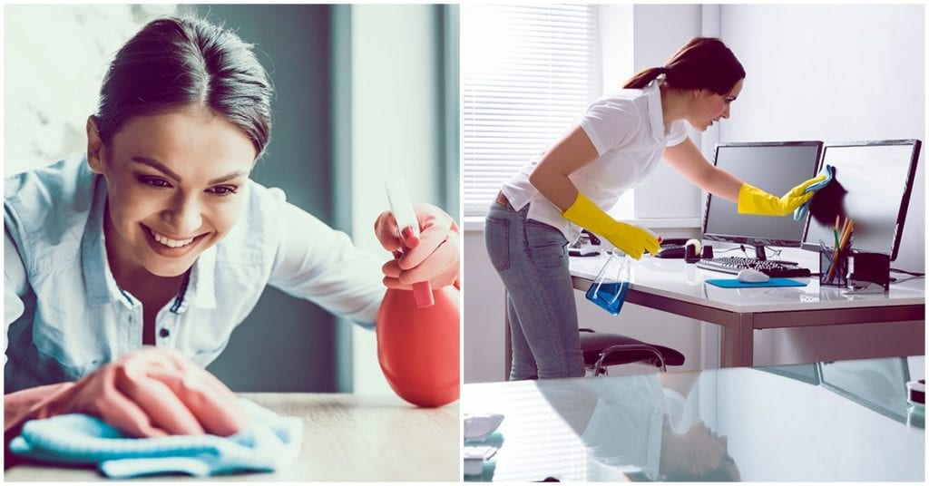 Cómo mantener limpio tu lugar de trabajo durante la cuarentena