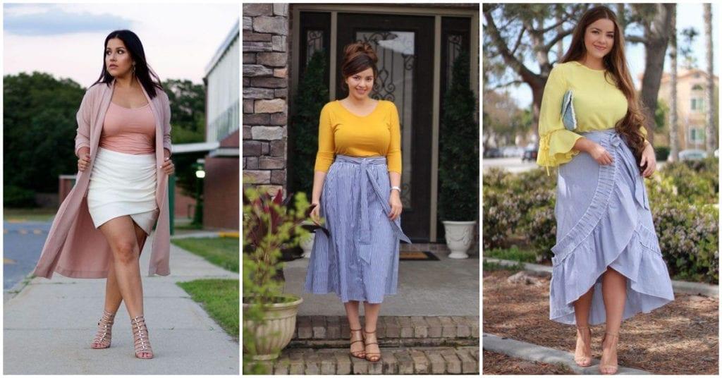 Faldas ideales para las chicas curvy