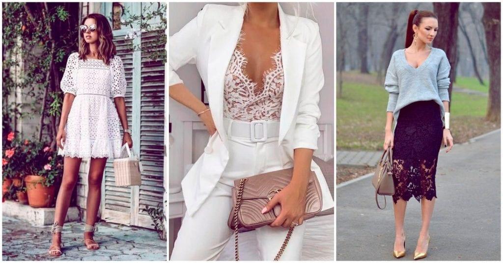 La mejor forma de llevar encaje en cualquiera de tus outfits