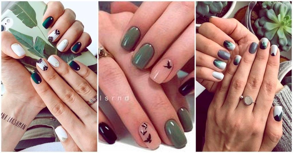 Hermosas manicuras en tonos verdes, ¡me encantan!