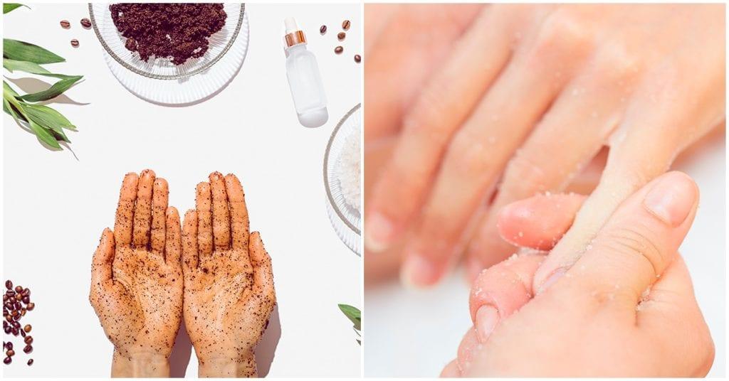 Crea tu propio exfoliante de manos, es muy sencillo