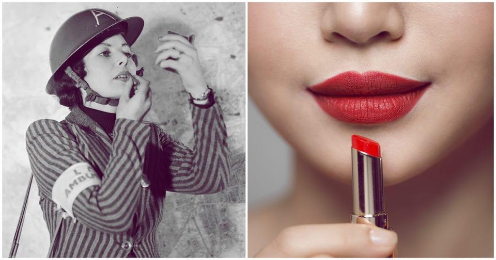 Los labios rojos en época de crisis siempre han estado de moda