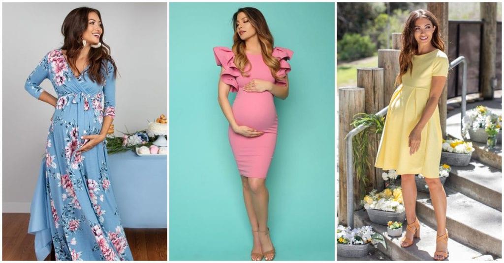 Los outfits más románticos para las futuras mamás