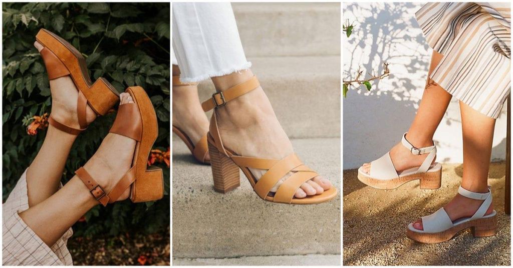 Sandalias con tacón que van perfectas para este calorsito