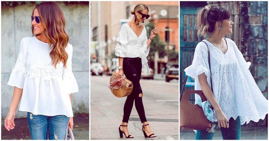 Una blusa blanca siempre puede ser la solución