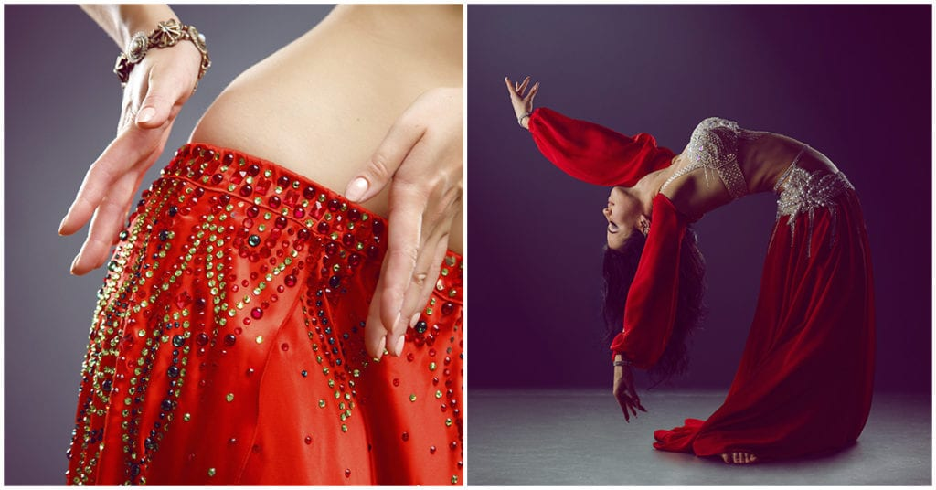 Movimientos de danza árabe que te restan cm de cintura