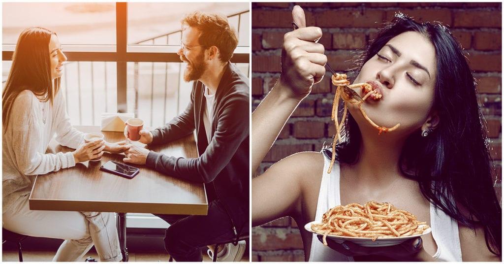 Qué no deberías comer en la primera cita con tu crush