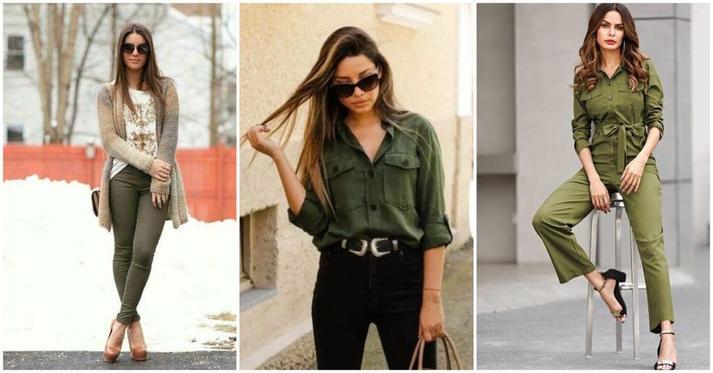 Outfits con prendas verde militar