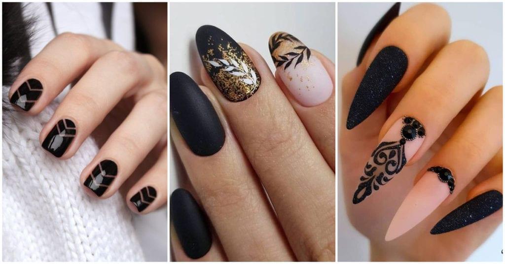 Diseños de uñas color negras para que te combinen con todo