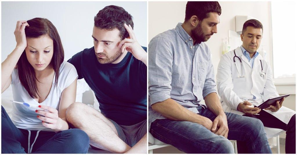 Problemas masculinos : causas por las que él puede ser infértil