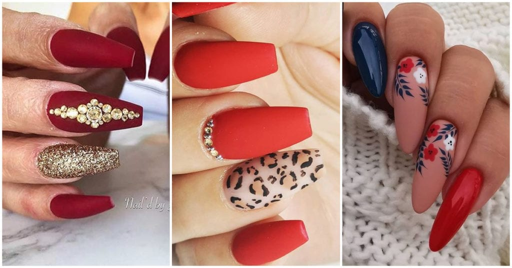 Diferentes estilos de esmalte rojo para las chicas más sexys