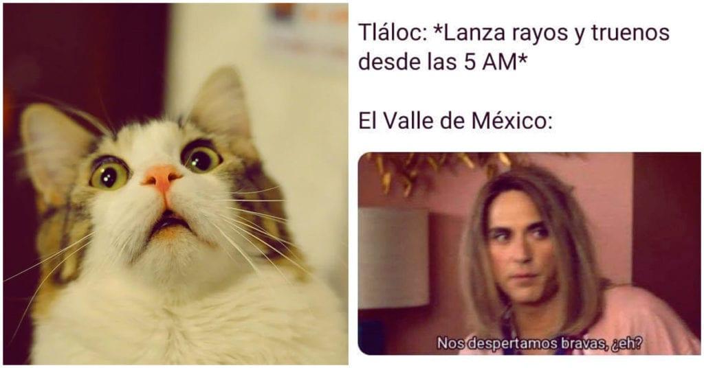 Tláloc también me despertó ¿Quién más se espanta con los truenos?