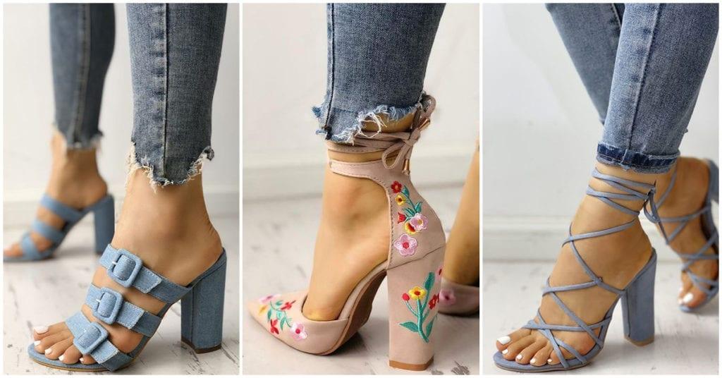 Zapatos de tacón ancho que deberías tener sí o sí