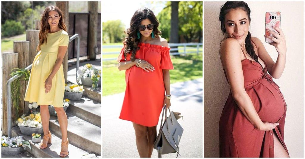 Vestidos ideales para las futuras mamás ¿cuál te pondrías?