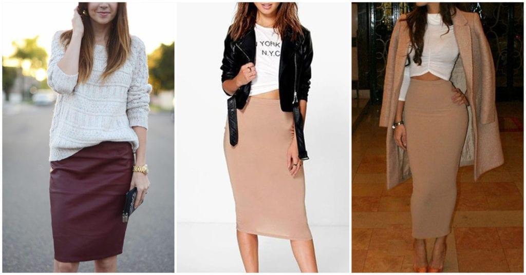 Diferentes formas de usar una falda lápiz para lucir sofisticada