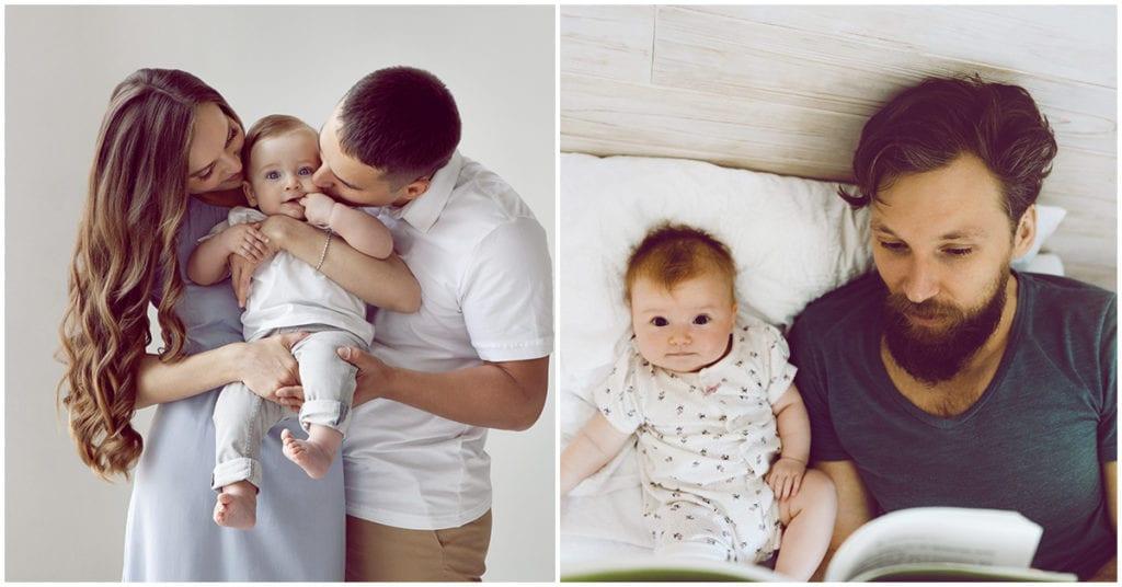 Agradezco tenerte a mi lado en esto de la maternidad… no sé que haría sin mi marido