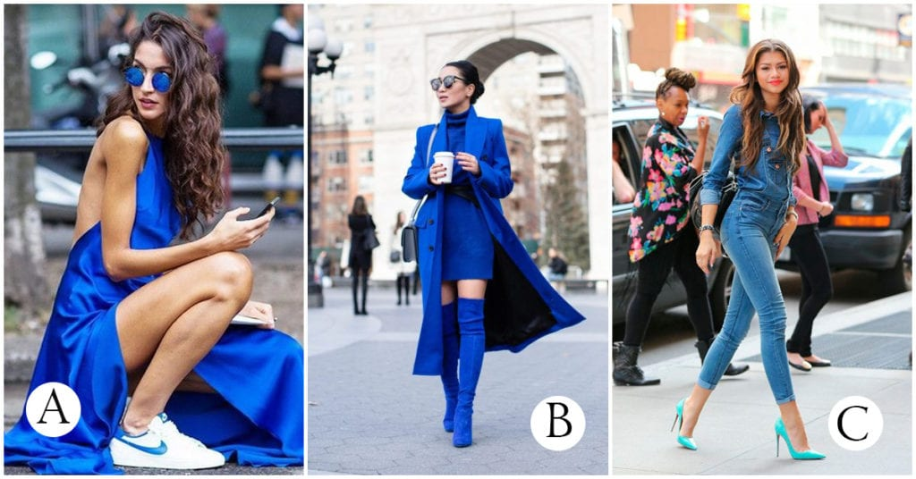 Prendas azules que debes tener si o sí en tu armario