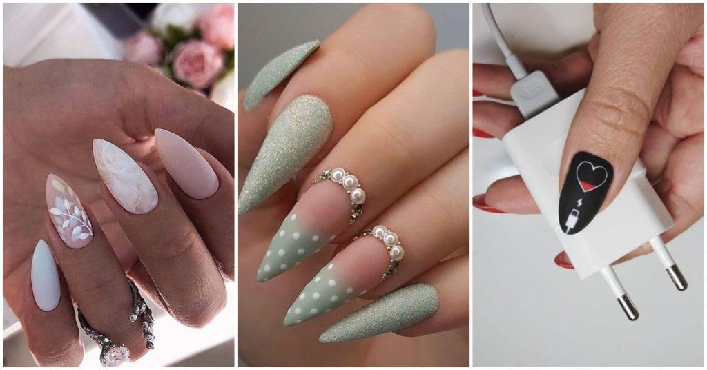 Diferentes diseños de uñas puntiagudas para las chicas sexys