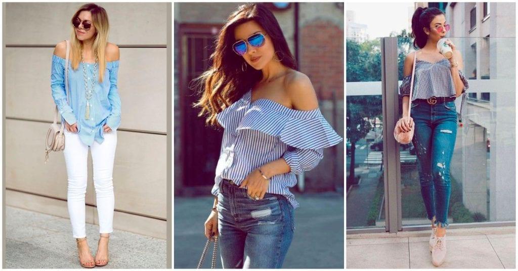 Blusas off shoulder, aprende a combinarlas para el mejor look