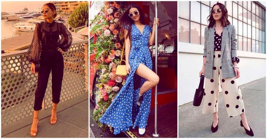 La mejor forma de lucir los polka dots en tu outfit