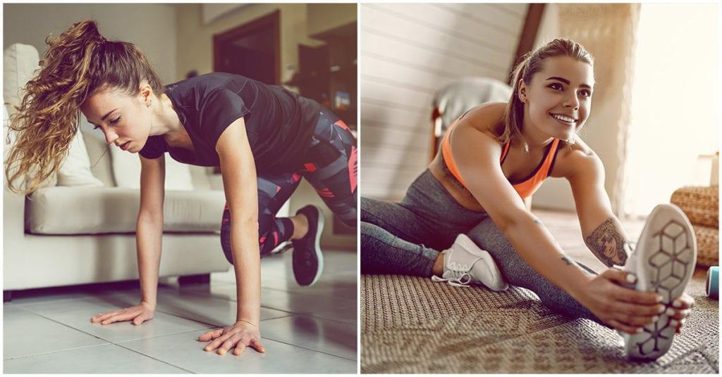 Todas estamos haciendo ejercicios en casa, ahora te cuento cómo no lastimarte