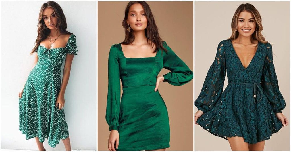 Vestidos verdes: la mejor manera de meterle a tu armario creatividad