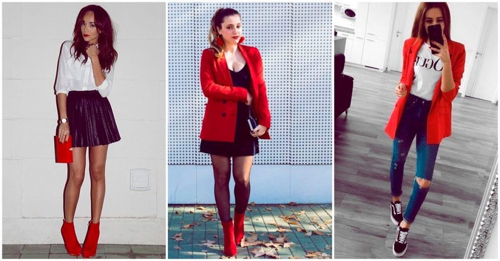 Cómo usar el color rojo en cualquiera de tus outfits y lucir muy sexy
