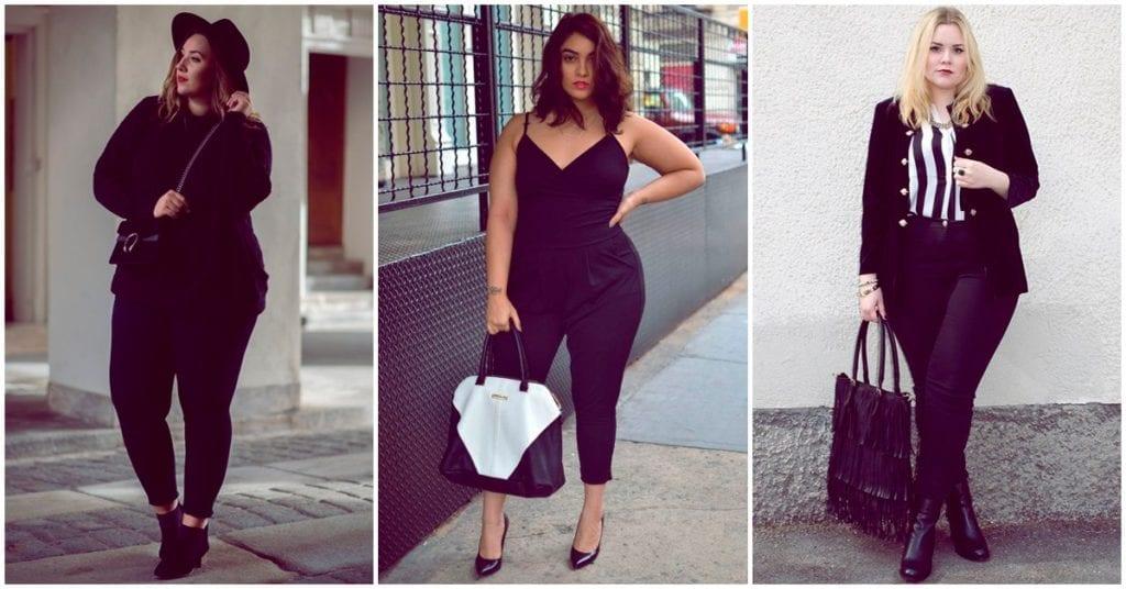 Outfits negros que le van súper bien a las chicas curvy