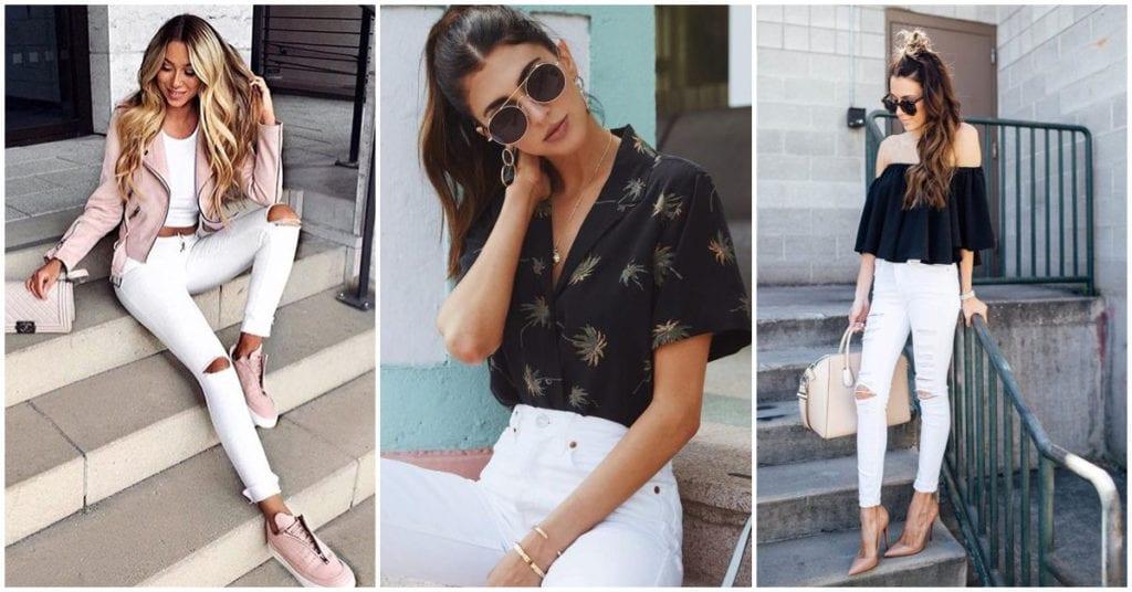 Cómo usar tus jeans blancos en un outfit más formal