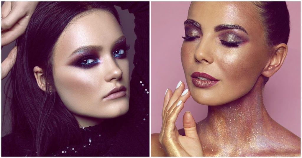 Makeups con glitter para lucir guapisima de noche ¡los ame!