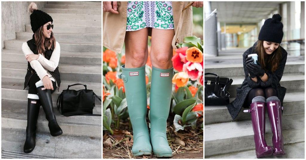 Cómo combinar tus botas de lluvia esta temporada