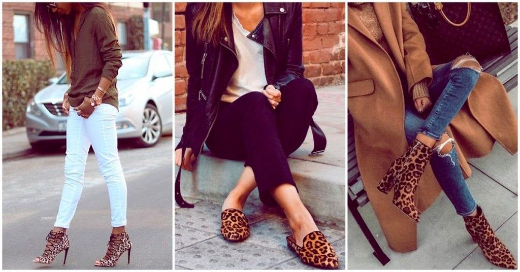 Cómo llevar zapatos animal print con mucho estilo
