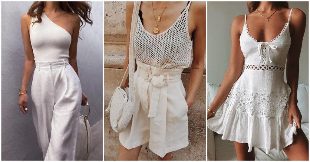 Cómo usar el color blanco como una mujer elegante