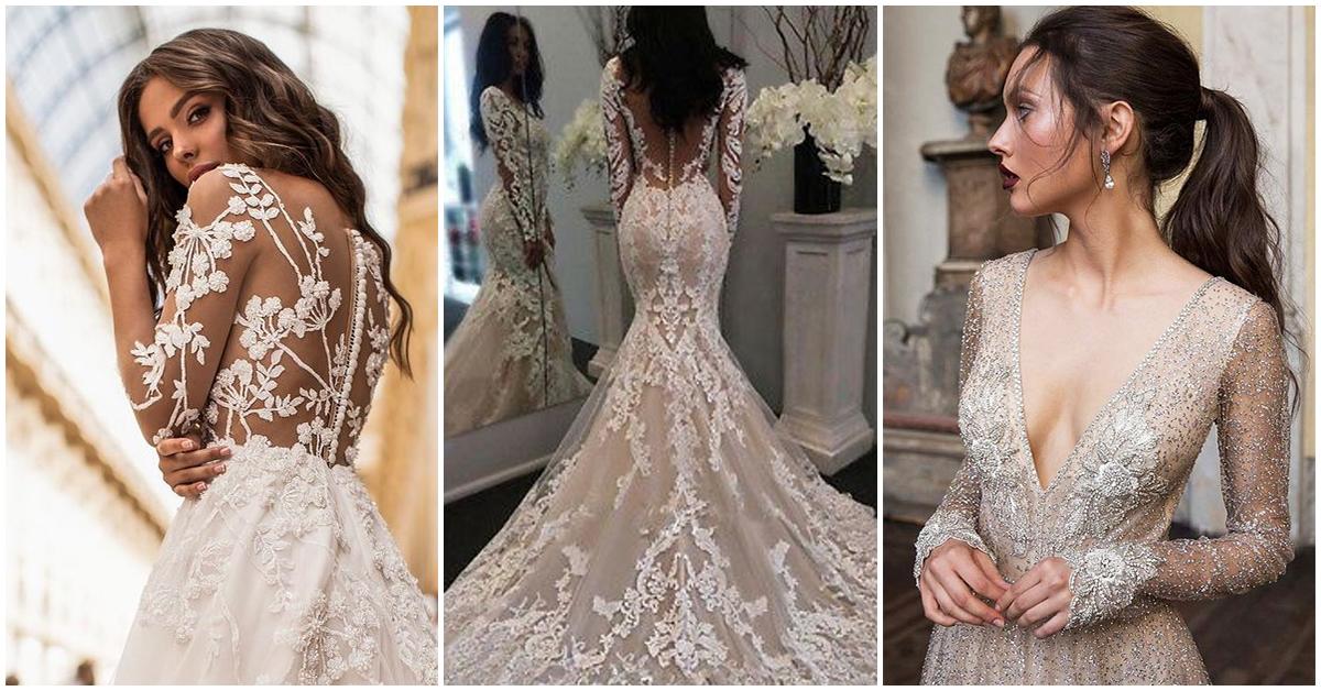 Vestidos de novia con manga larga para esta temporada