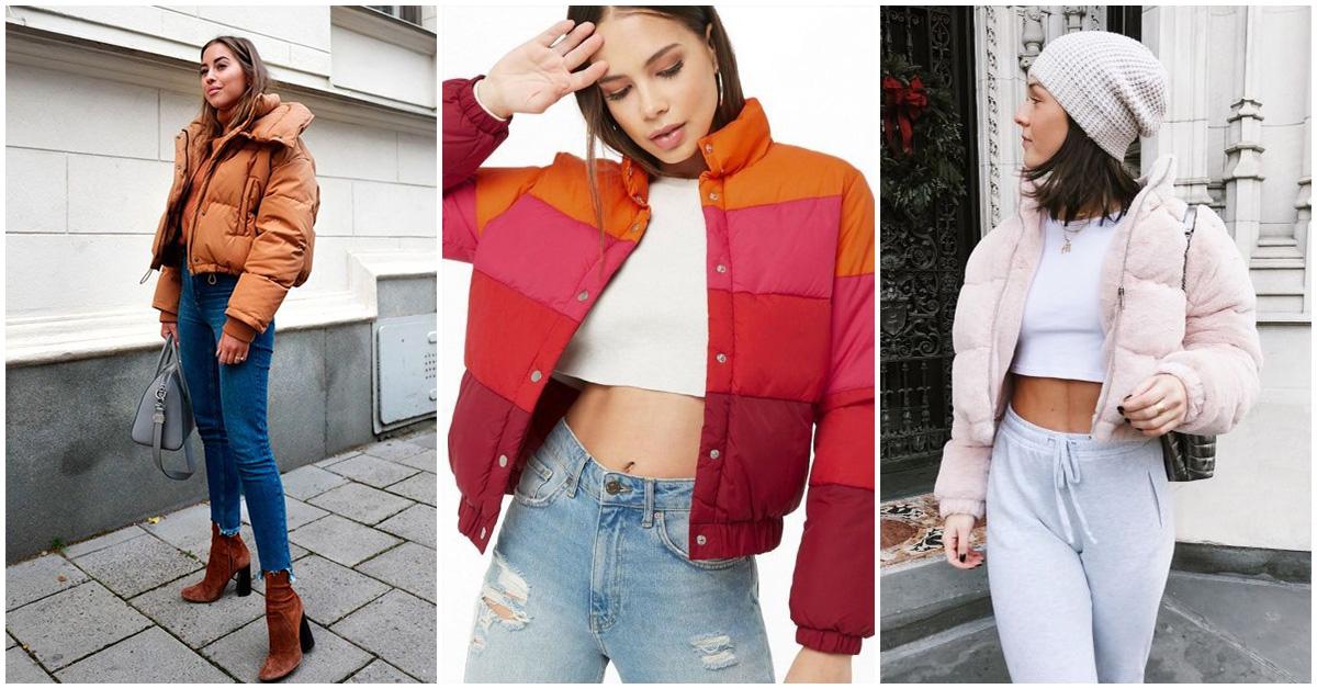 Puffer jackets: calentita y muy fashion