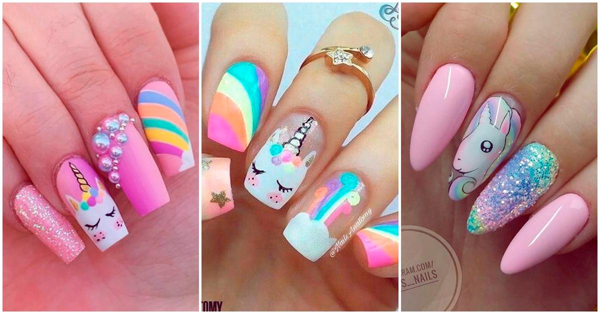Diseños super cute con unicornios para tus manos