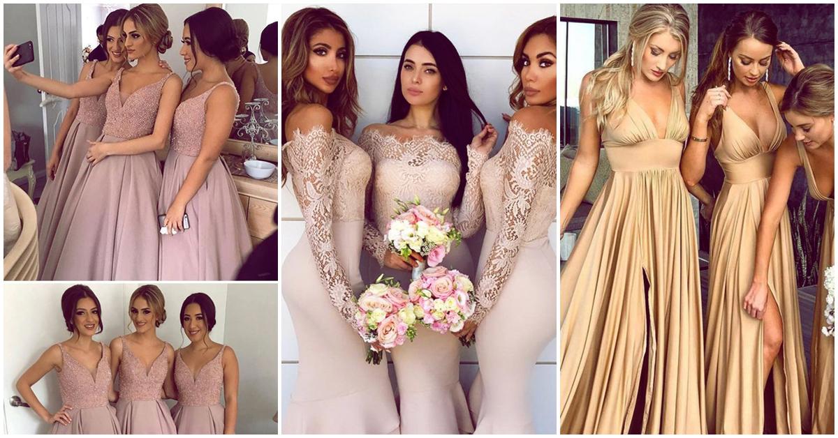 Diferentes estilos de vestido para tus damas de honor