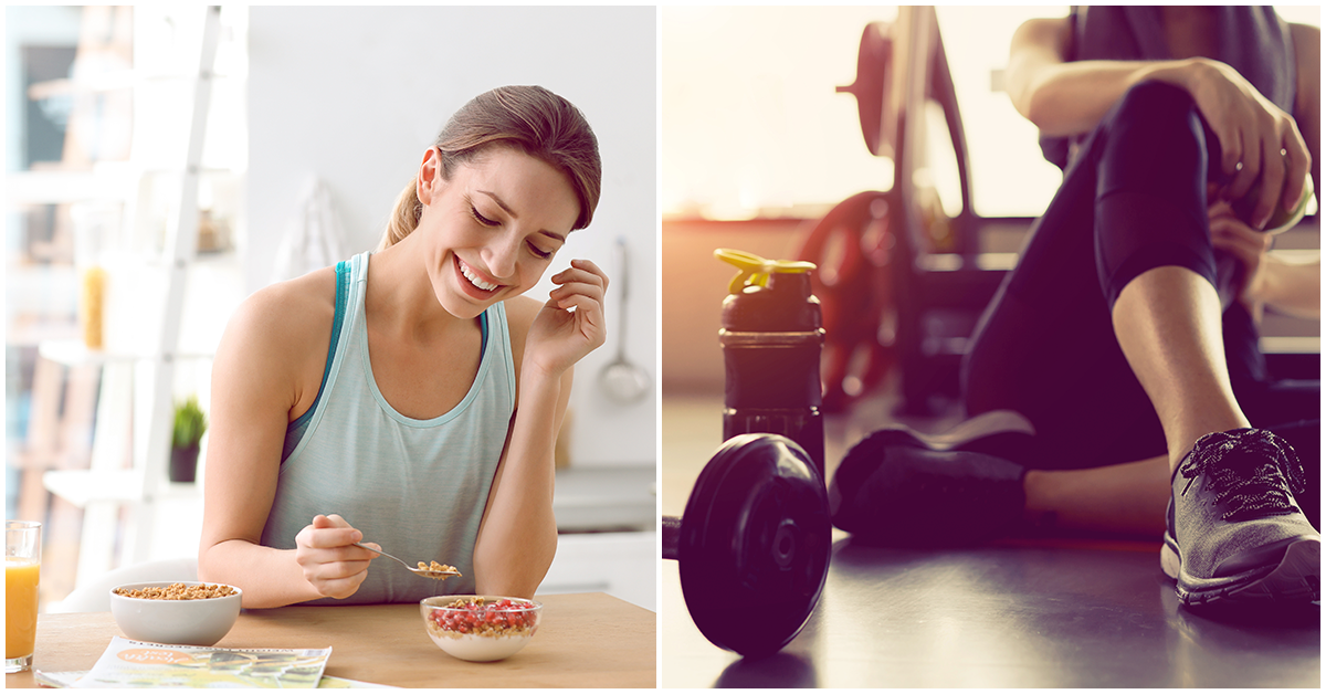 Desayunar ¿antes o después de hacer ejercicio?