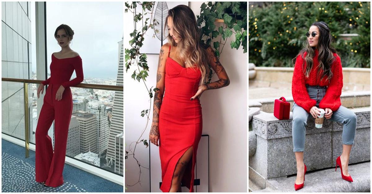 Cómo usar prendas rojas a tu favor ¡están preciosas!